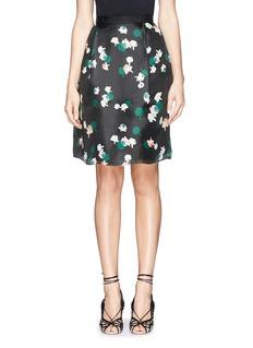 TANYA TAYLOR'Ella' floral print pleat washi organza skirt