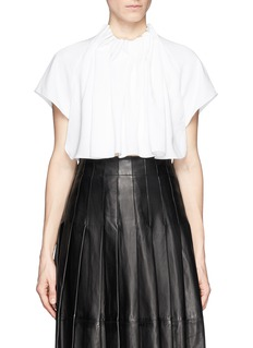 ELLERY 'Seashell' gathered neck crepe top