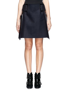 TOGA ARCHIVES Faux leather felt skirt