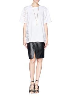 NO. 21Asymmetric lace T-shirt