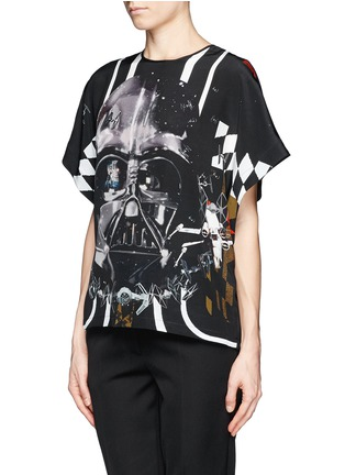 Front View - Click To Enlarge - PREEN BY THORNTON BREGAZZI - Star Wars print silk T-shirt