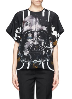 PREEN BY THORNTON BREGAZZI Star Wars print silk T-shirt