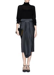JASON WUDrape front satin skirt