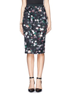 TANYA TAYLOR 'Peggy' floral print washi organza pencil skirt