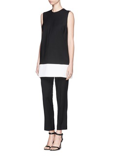 VICTORIA, VICTORIA BECKHAM Wool sateen tunic and pants set