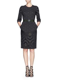 PREEN BY THORNTON BREGAZZI'Nelly' geometric print crepe sheath dress
