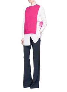 ValentinoOrganza ribbon cashmere knit dickie top