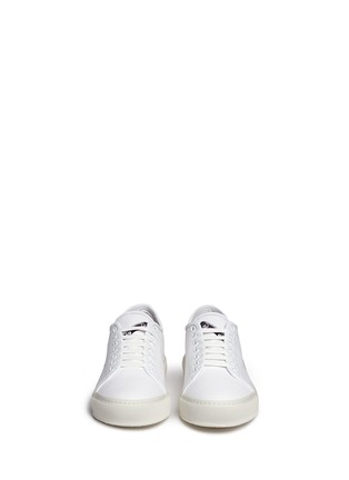 Front View - Click To Enlarge - Joshua Sanders - 'Skate or Die' embroidered canvas sneakers