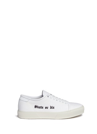 Main View - Click To Enlarge - Joshua Sanders - 'Skate or Die' embroidered canvas sneakers