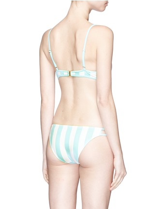 Back View - Click To Enlarge - Solid & Striped - 'Thea' stripe bikini top