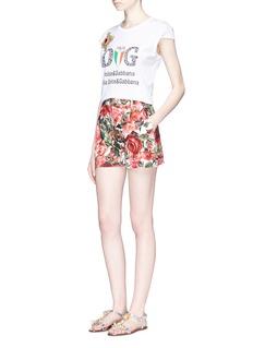 Dolce & Gabbana Bullion patch fake logo basketball tank top