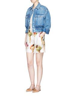 Dolce & GabbanaIce cream print silk twill pyjama shorts