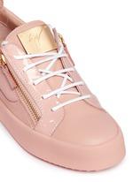 'Nicki' double zip leather sneakers