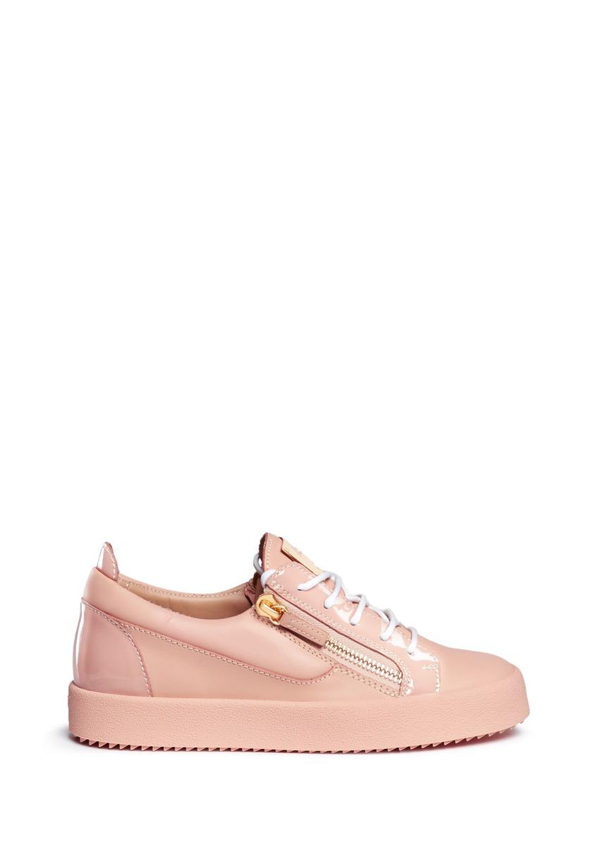 Nicki double zip leather sneakers by Giuseppe Zanotti Design