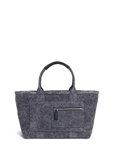 Marc Jacobs Zip pocket cotton denim tote