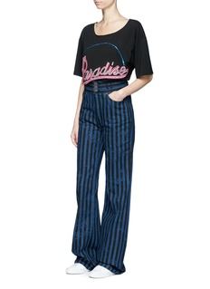 Marc Jacobs Distressed stripe high waist jeans