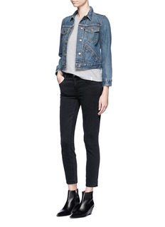 Marc Jacobs Patchmarc Customisation shrunken denim jacket