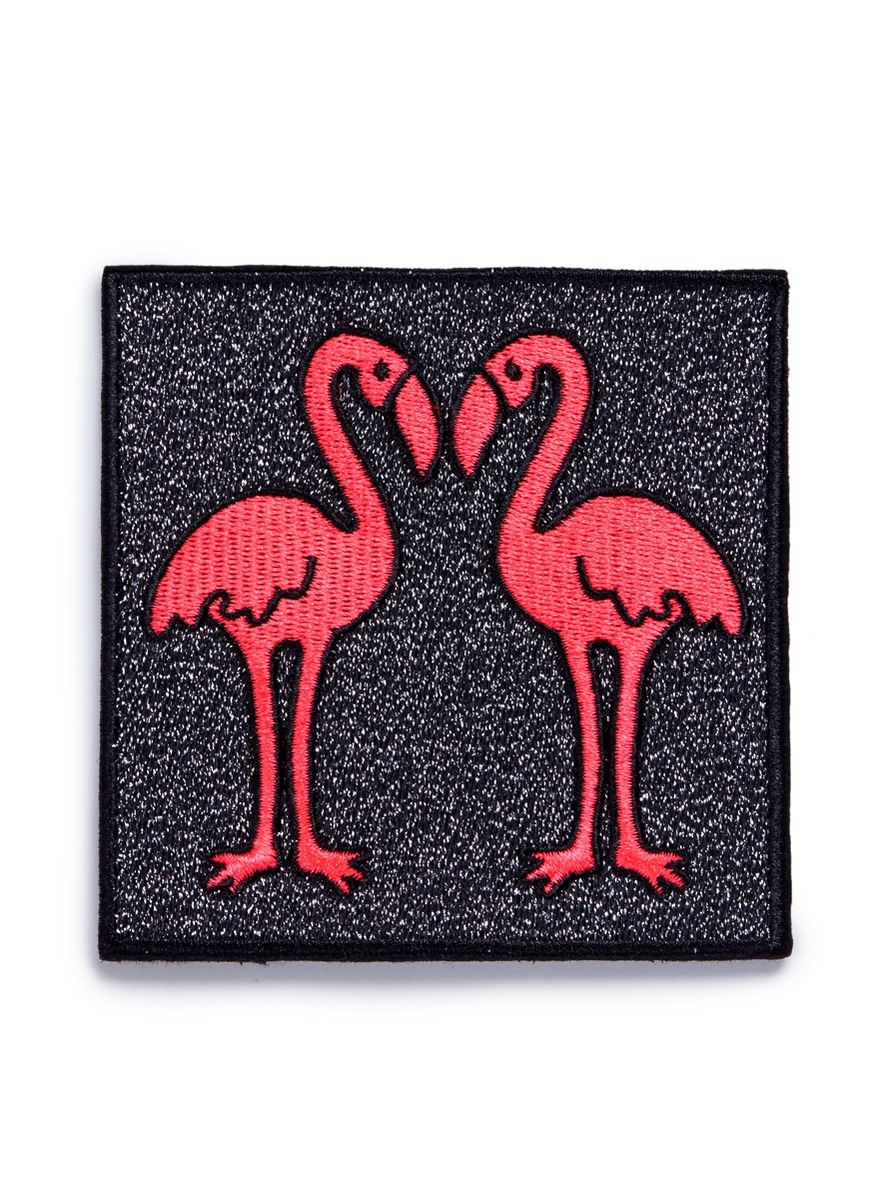 marc jacobs female flamingo embroidered patch