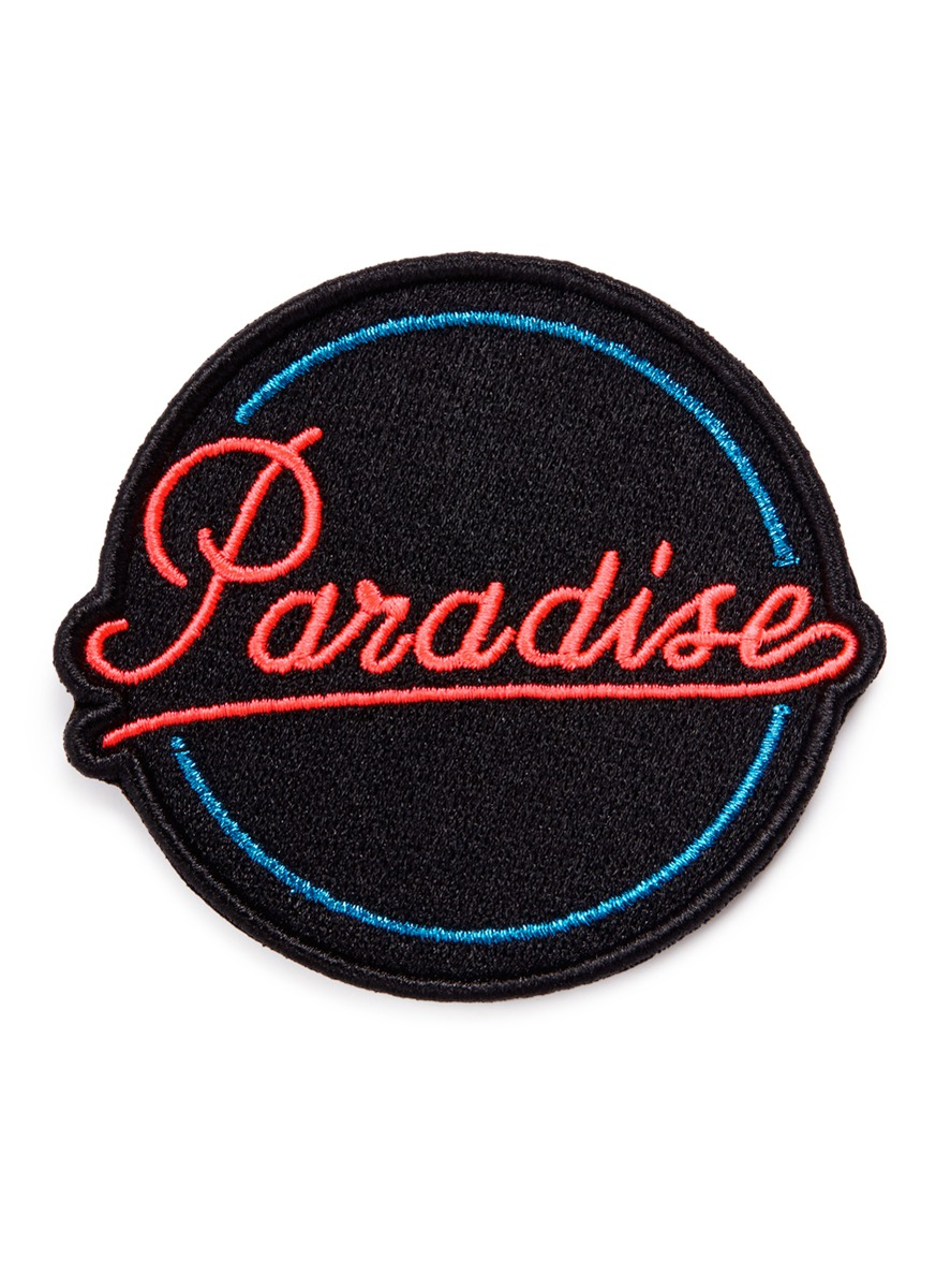 Paradise embroidered patch by Marc Jacobs