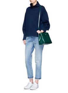 AG'Nona' funnel neck cotton sweatshirt