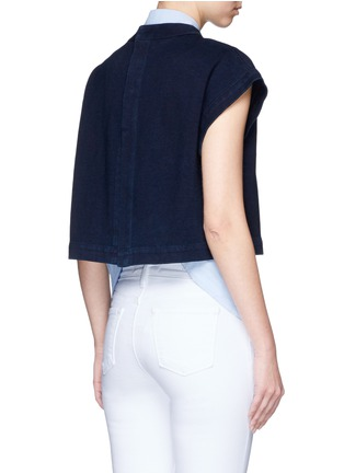 Back View - Click To Enlarge - AG - 'Trapezi' split cropped top