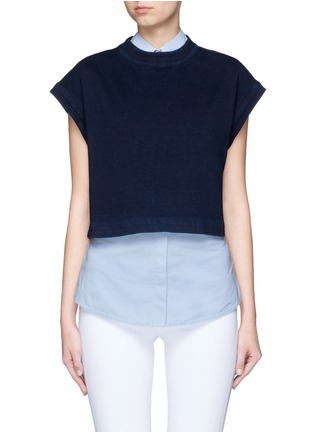 Main View - Click To Enlarge - AG - 'Trapezi' split cropped top