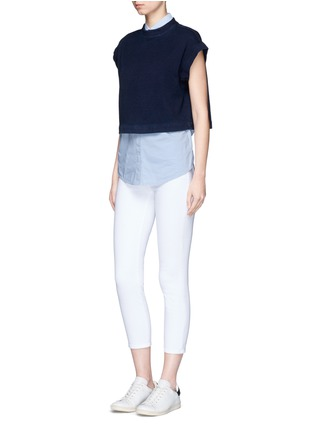 Figure View - Click To Enlarge - AG - 'Trapezi' split cropped top