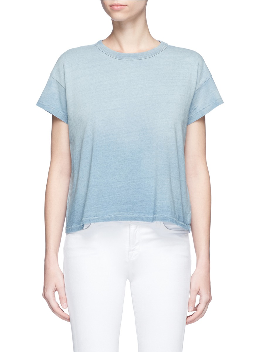 Penrose cropped ombré T-shirt by AG