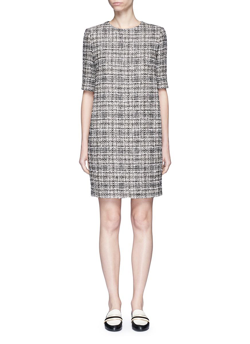 lanvin female tweed dress