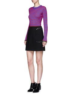 Proenza SchoulerIrregular stripe silk-cashmere sweater