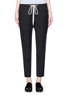 bassikeShoelace drawcord crepe pants