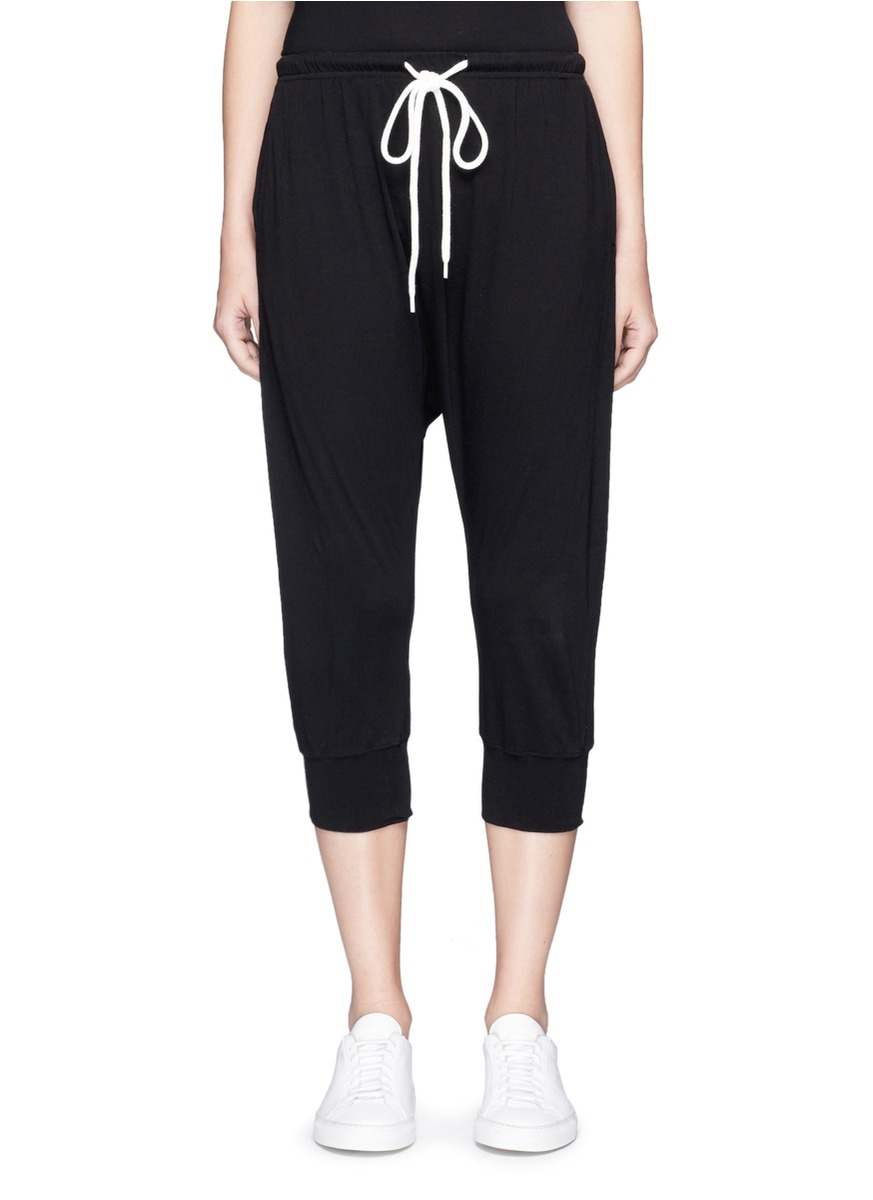 Crop lo slung drawstring waist pants by bassike