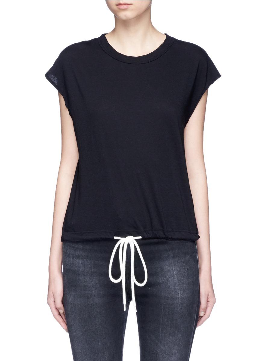 Drawstring hem organic cotton T-shirt by bassike