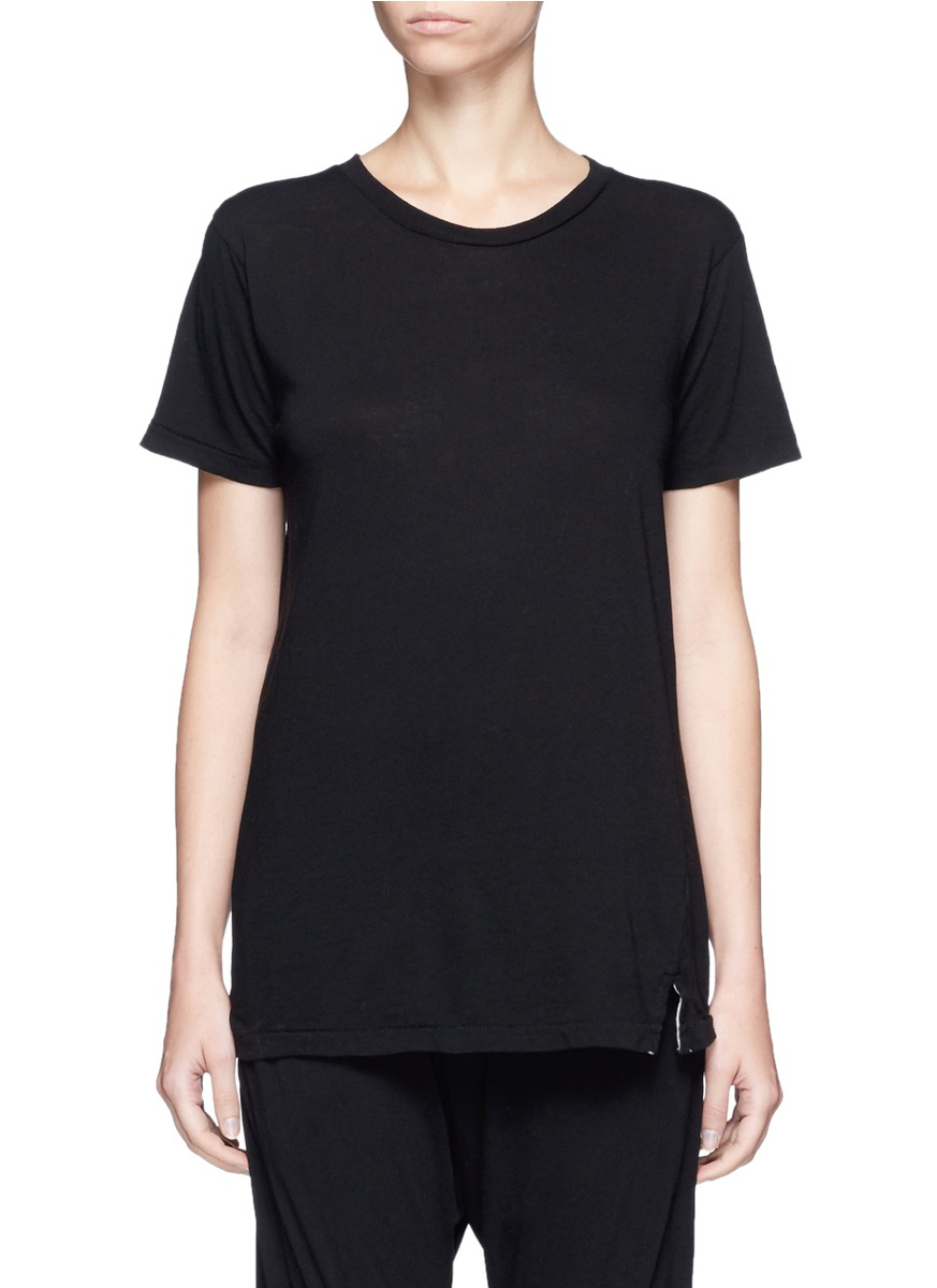 Slim vintage neck organic cotton T-shirt by bassike