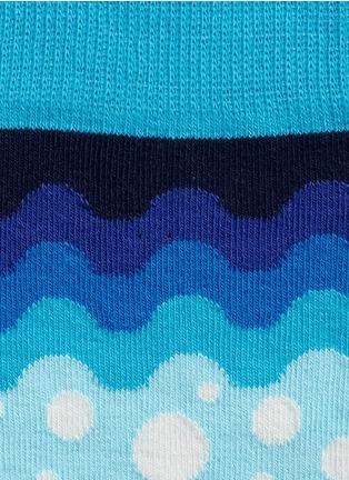 细节 - 点击放大 - HAPPY SOCKS - 波浪纹圆点图案袜子