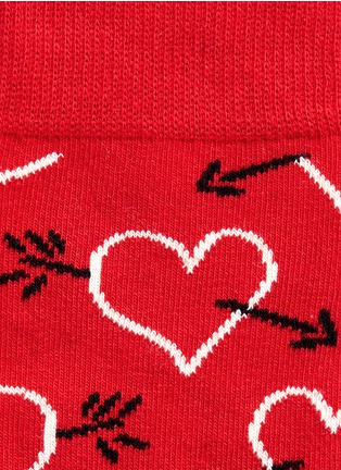 Detail View - Click To Enlarge - Happy Socks - Arrow & Heart socks