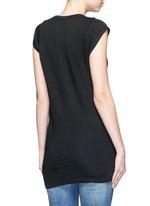Cap sleeve linen jersey T-shirt