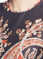 'Severne' paisley print cotton voile top