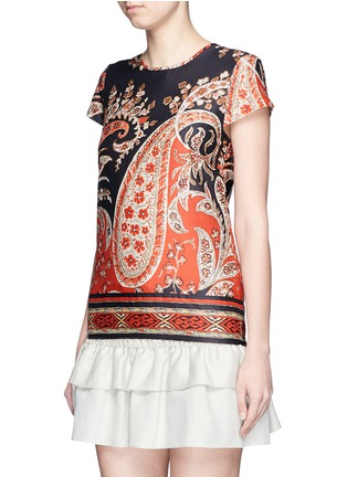 Front View - Click To Enlarge - Isabel Marant Étoile - 'Severne' paisley print cotton voile top