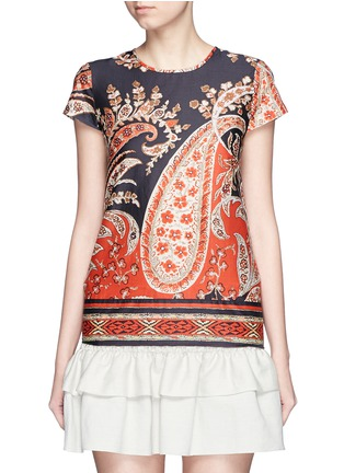 Main View - Click To Enlarge - Isabel Marant Étoile - 'Severne' paisley print cotton voile top