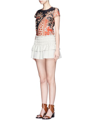Figure View - Click To Enlarge - Isabel Marant Étoile - 'Severne' paisley print cotton voile top