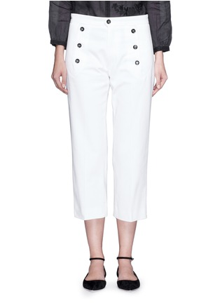 Isabel Marant Étoile - Contrast button cotton twill capri pants