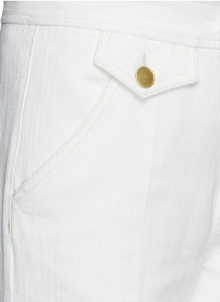 Detail View - Click To Enlarge - Isabel Marant Étoile - Cotton denim jeans