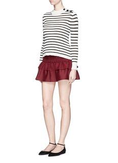Isabel Marant ÉtoileLinen ruffle mini skirt