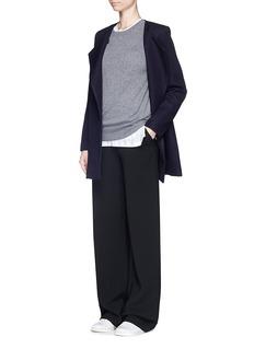 THEORY'Venizka' virgin wool blend twill coat