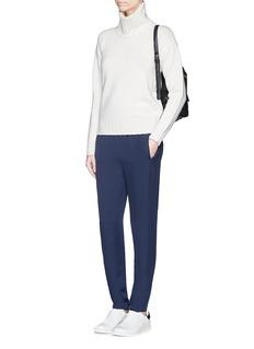 THEORY'Thorene' elastic waist silk georgette pants