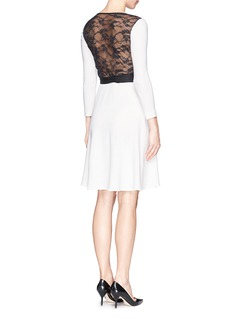 DIANE VON FURSTENBERG 'Seduction' floral lace knit wrap dress