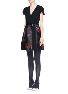 DIANE VON FURSTENBERG'Ivy' rose daze brocade dress