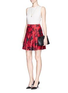 DIANE VON FURSTENBERG'Gemma' floral print wool-silk pleat skirt