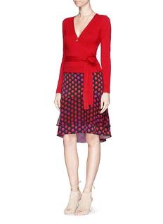 DIANE VON FURSTENBERG'Catherine' polka dot print silk chiffon skirt